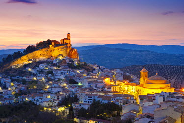 SPA3830AW Spain, Andalucia, Granada province, Montefrio at dusk