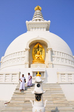 IND6843AW Buddhist temple in Rajgir. India