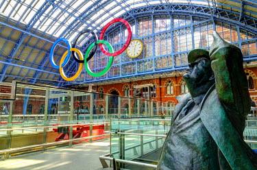 UK10493 UK, England, London, St. Pancras International Station