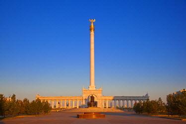 KZ01088 Kazakhstan, Astana, KazakYeli monument (Kazakh Country)