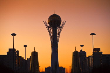 KZ01140 Kazakhstan, Astana, Nurzhol Bulvar - central boulevard, Bayterek Tower