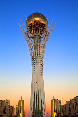 KZ01145 Kazakhstan, Astana, Nurzhol Bulvar - central boulevard, Bayterek Tower