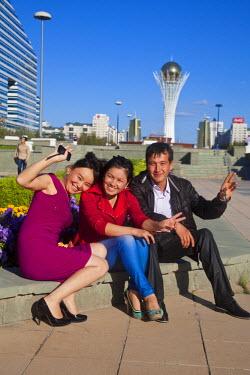 KZ01156 Kazakhstan, Astana, Nurzhol Bulvar - central boulevard, Bayterek Tower