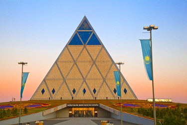 Kazakhstan, Astana, Palace of Peace and Reconciliation pyramid designed by Sir Norman Foster