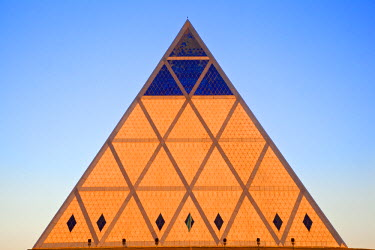 KZ01181 Kazakhstan, Astana, Palace of Peace and Reconciliation pyramid designed by Sir Norman Foster