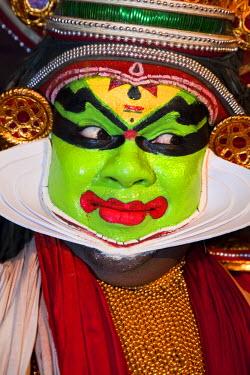 IN06338 Kathakali Dancer India, Kerala, India. Kathakali is the traditional art form of Kerala