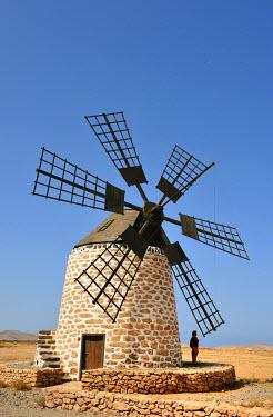 SPA4001AW Traditional windmill in Los Molinos, Fuerteventura, Canary islands
