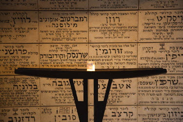 IS01646 Israel, Jerusalem, Old City, Mt. Zion, Chamber of the Holocaust, memorial to Holocaust victims 1939-1945