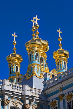 RU02309 Russia, St. Petersburg, Pushkin-Tsarskoye Selo, Catherine Palace Chapel detail