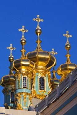 RU02303 Russia, St. Petersburg, Pushkin-Tsarskoye Selo, Catherine Palace Chapel detail