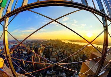 US60099 USA, New York, Manhattan, Midtown, Empire State Building Observation Deck