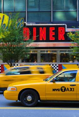 US60270 USA, New York, Manhattan, Midtown, West 57th Street, Brooklyn Diner