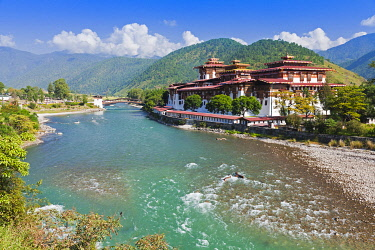 Punakha Dzong, at the confluence of two rivers, was the venue of the Fifth King of Bhutan's Royal Wedding.