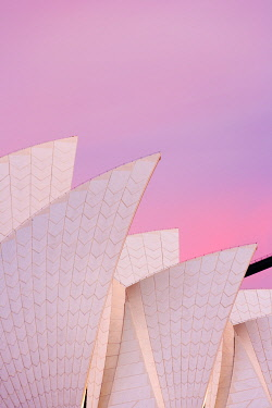 AUS1683AW Australia, New South Wales, Sydney, Sydney Opera House, Close-up of Opera House at dawn