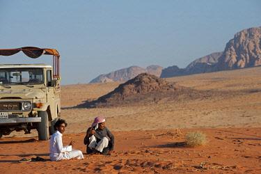 JOR0284 Travelling by jeep in the Wadi Rum, Jordan
