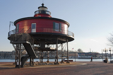 USA8139 The Seven Foot Knoll Lighthouse, Baltimore, State of Maryland, U.S.A.