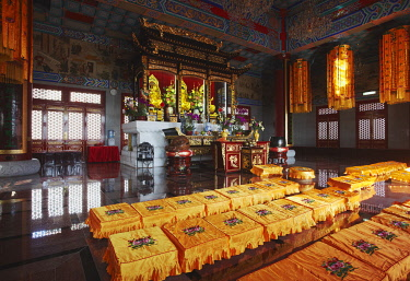 CH9715AW Interior of Western Monastery, Tsuen Wan, New Territories, Hong Kong, China