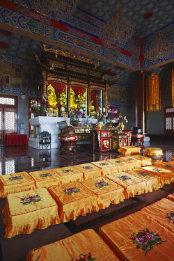 CH9714AW Interior of Western Monastery, Tsuen Wan, New Territories, Hong Kong, China