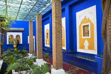 MOR1988 Jardin Majorelle, The Majorelle Garden is a botanical garden in Marrakech, Morocco.