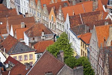 BEL1160 Aerial View of Bruges, Brugge, Flanders, Belgium, UNESCO World Heritage Site