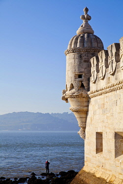 Torre de Belem, Belem Tower or Tower of St Vincent, Unesco World Heritage Site, Belem district, Lisbon, Portugal, Europe