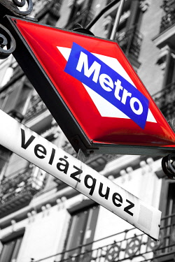 SPA4161 Velazquez metro station. One of the most elegant areas of the city of Madrid, where is La Milla de Oro, shopping area.