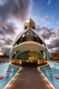 SPA4236AW Europe, Spain, Valencia, Palau de les Arts Opera House.