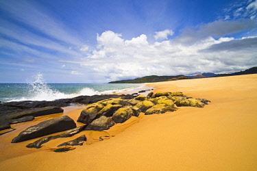 SIL0009AW Africa, Sierra Leone, Freetown Peninsula, John Obey Beach.