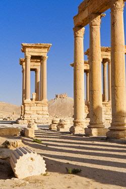 SY1323AW Syria, Homs Governate, Palmyra. The Tetrapylon.