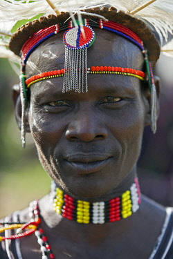 KEN7798 A proud Pokot elder at the Sapana ceremony of his son