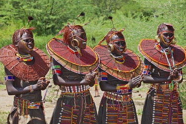 Pokot women celebrate a Sapana ceremony.
