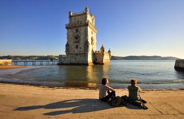 POR6769AW Torre de Belem (Belem Tower), a UNESCO World Heritage Site built in the 16th century, Lisbon, Portugal