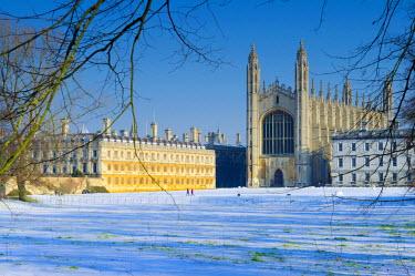 UK07247 UK, England, Cambridge, King's College Chapel from The Backs