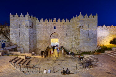 IS30232 Israel, Jerusalem, The Old City, Damascus Gate