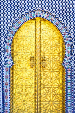MC02553 Royal Palace Door, Fes, Morocco