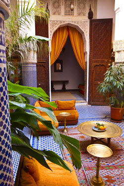 MC02559 Riad interior, Fes, Morocco