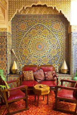 MC02568 Traditional Riad interior, Meknes, Morocco