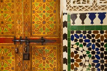 MC02576 Interior door detail, Moulay Ismal Mousoleum, Medina, Meknes, Morocco