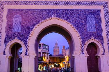 MC02578 Bab Boujeloud Gate (The Blue Gate), Fes, Morocco