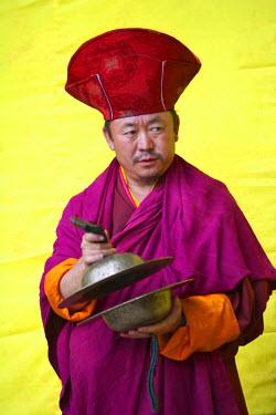 AS04_KSU0264_M Lama at Mewang Festival, Bumthang, Bhutan