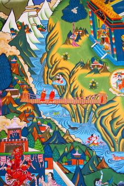 AS04_KSU0267_M Buddhist mural, Trongsa Dzong, Bhutan