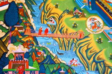 AS04_KSU0268_M Buddhist mural, Trongsa Dzong, Bhutan