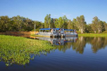 AU01_DWA4272_M Yellow Water Cruise Boats, Yellow Water Billabong, Kakadu National Park, Northern Territory, Australia