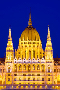 HUN1048 Europe, Hungary, Budapest, Hungarian Parliament Building, Unesco Banks of the Danube World Heritage Site