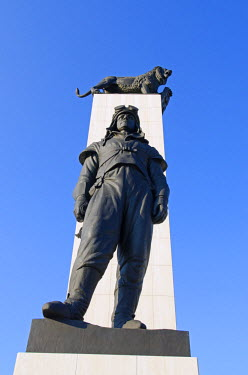 SLV1022 Europe, Slovakia, Bratislava, statue of Gen Dr Milan Rastislav Stefanik