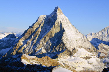 Europe, Switzerland, Swiss Alps, Valais, Zermatt, The Matterhorn (4478m)