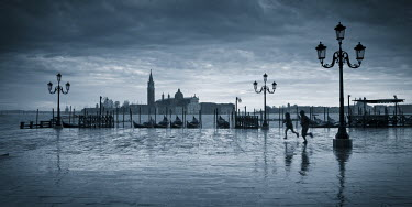 IT01553 Piazza San Marco looking across to San Giorgio Maggiore, Venice, Italy