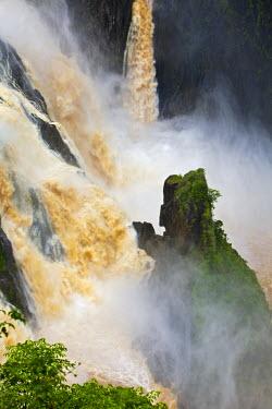 AUS1783 Australia, Queensland, Cairns.  Barron Falls at Kuranda, flooded during the monsoon season.