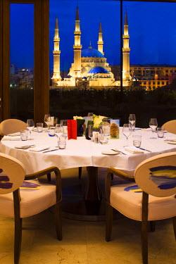 LEB0039AW Lebanon, Beirut. Indigo Restaurant at the Le Gray Hotel.