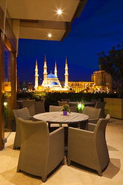 LEB0041AW Lebanon, Beirut. Indigo Restaurant at the Le Gray Hotel.